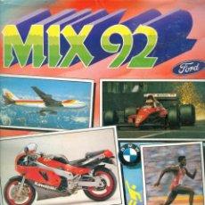 Coleccionismo Álbum: NUMULITE L0614 MIX 92 ALBUM DE CROMOS COMPLETO BUEN ESTADO COCHES FORMULA 1 MOTOS AVIONES VIDEOJUEGO. Lote 234871220