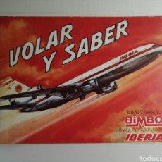Coleccionismo Álbum: ALBUM DE CROMOS COMPLETO VOLAR Y SABER BIMBO. INCLUIDO EL BIMBORAMA COMPLETO. Lote 234893320