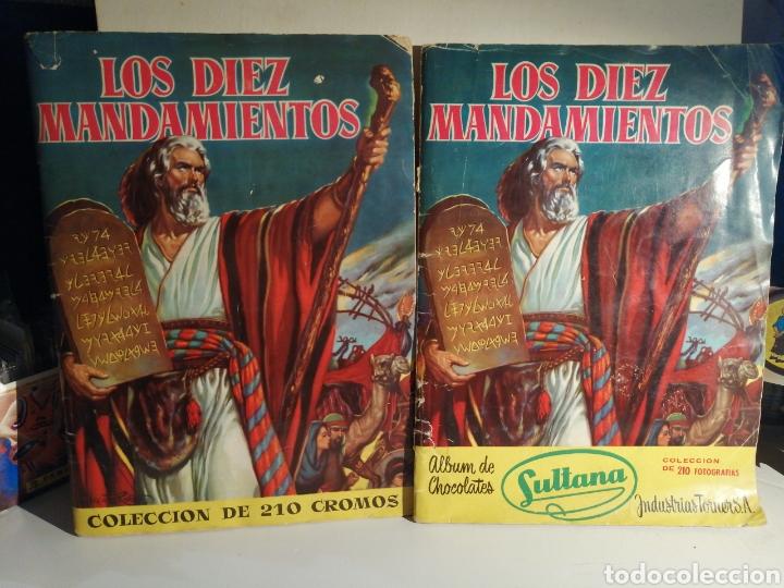 ALBUMES LOS DIEZ MANDAMIENTOS BRUGUERA Y BRUGUERA/SULTANA COMPLETOS (Coleccionismo - Cromos y Álbumes - Álbumes Completos)