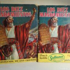 Coleccionismo Álbum: ALBUMES LOS DIEZ MANDAMIENTOS BRUGUERA Y BRUGUERA/SULTANA COMPLETOS. Lote 235202995