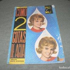 Coleccionismo Álbum: ALBUM COMPLETO DE COMO DOS GOTAS DE AGUA. Lote 235218135