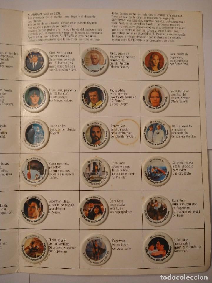 Coleccionismo Álbum: ALBUM SUPERMAN COCA COLA COMPLETO BUEN ESTADO ORIGINAL - Foto 6 - 235320745