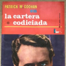 Coleccionismo Álbum: MUY RARO ÁLBUM PATRICK MCGOOHAN EN LA CARTERA CODICIADA - EDITORIAL FHER - AÑO 1966 - COMPLETO. Lote 235661475