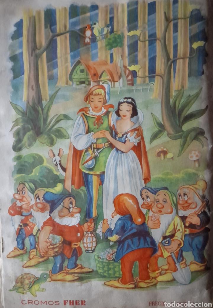 Coleccionismo Álbum: Blanca Nieves y los siete enanos .Colección completa 216 cromos.Editorial Fher 1941 - Foto 3 - 235826885