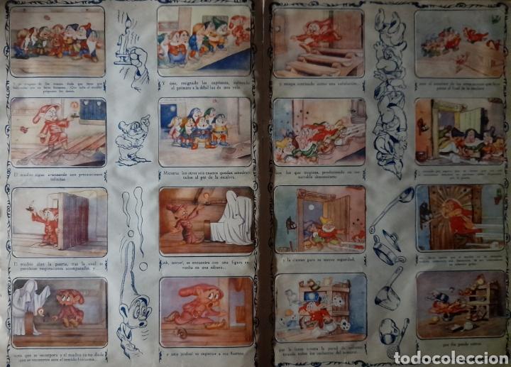 Coleccionismo Álbum: Blanca Nieves y los siete enanos .Colección completa 216 cromos.Editorial Fher 1941 - Foto 6 - 235826885