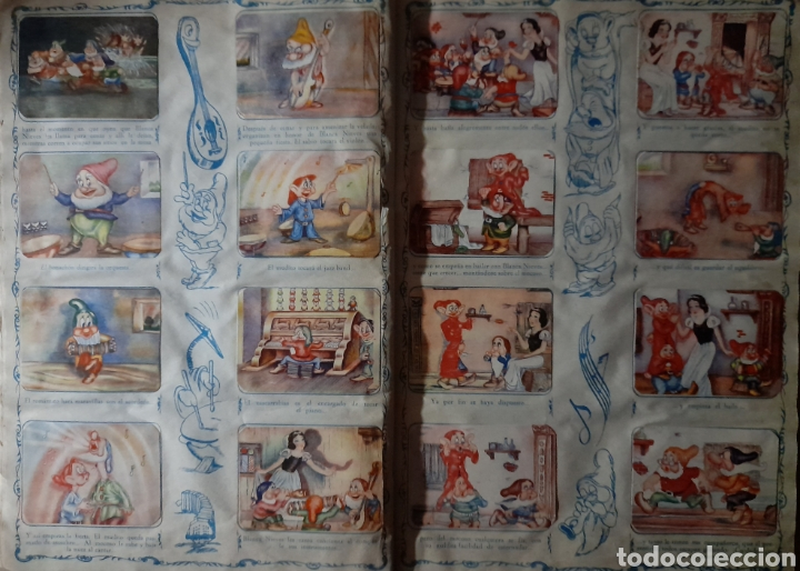 Coleccionismo Álbum: Blanca Nieves y los siete enanos .Colección completa 216 cromos.Editorial Fher 1941 - Foto 13 - 235826885