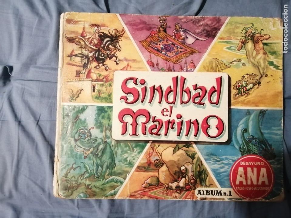 SIMBAD EL MARINO DESAYUNO SANA ÁLBUM NÚMERO 1 (Coleccionismo - Cromos y Álbumes - Álbumes Completos)