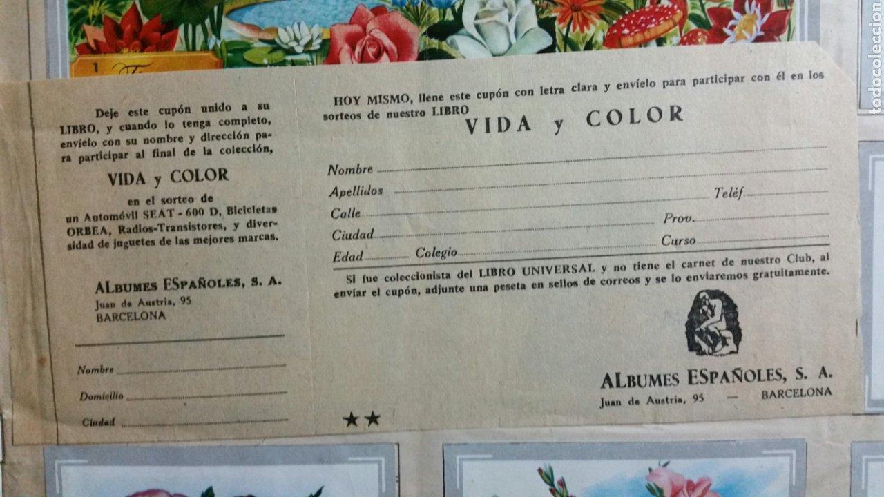 Coleccionismo Álbum: Álbum de cromos VIDA Y COLOR completo 380 cromos - Foto 2 - 235850390