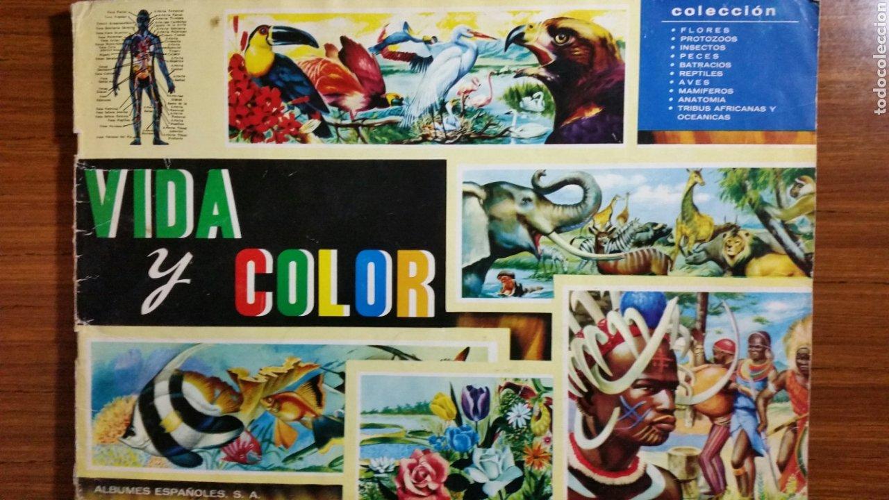 ÁLBUM DE CROMOS VIDA Y COLOR COMPLETO 380 CROMOS (Coleccionismo - Cromos y Álbumes - Álbumes Completos)