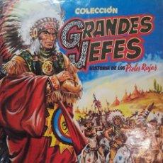 Coleccionismo Álbum: GRANDES JEFES HISTORIA DE LOS PIELES ROJAS. EDITORIAL FERMA . COLECCIÓN COMPLETA 120 CROMOS. Lote 235919305