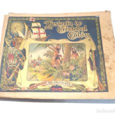 Coleccionismo Álbum: HISTORIA DE CRISTOBAL COLON DE CHOCOLATES JUNCOSA AÑO 1934 COMPLETO. Lote 236080940