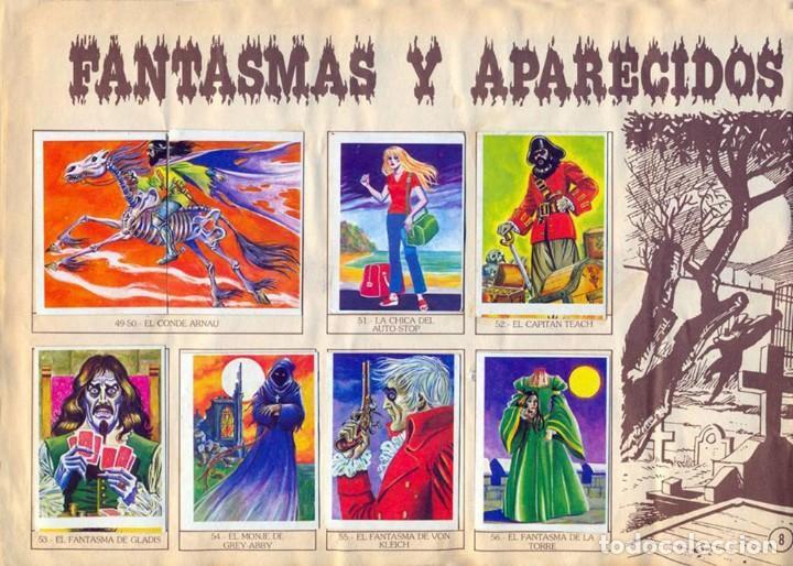 Coleccionismo Álbum: ALBUM CROMOS MONSTRUOS FACSIMIL NUEVO Y COMPLETO - Foto 4 - 236464675