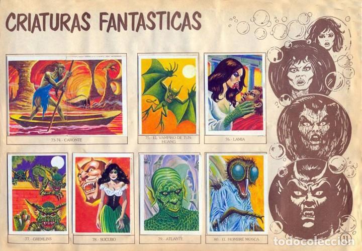 Coleccionismo Álbum: ALBUM CROMOS MONSTRUOS FACSIMIL NUEVO Y COMPLETO - Foto 5 - 236464675