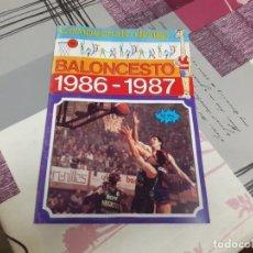 Coleccionismo Álbum: ALBUM CROMOS BALONCESTO 1986-1987 MERCHANTE NUEVO Y COMPLETO. Lote 236465365