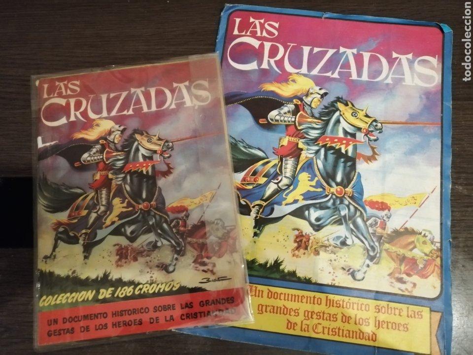 ALBUM DE CROMOS COMPLETO Y ALBUM CROMOS DESPLEGABLE LAS CRUZADAS . RUIZ ROMERO (Coleccionismo - Cromos y Álbumes - Álbumes Completos)