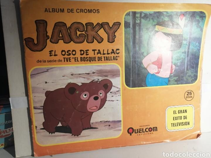 ALBUM DE CROMOS JACKY EL OSO DE TALLAC ED. QUELCOM (Coleccionismo - Cromos y Álbumes - Álbumes Completos)