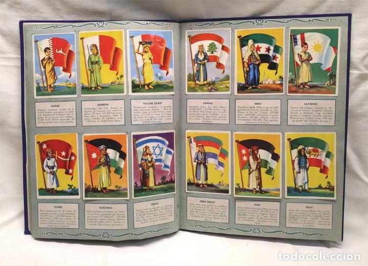 Coleccionismo Álbum: Banderas del Universo Editorial Bruguera año 1956, Encuadernado Tapa dura lomo de Tela - Foto 2 - 238448920