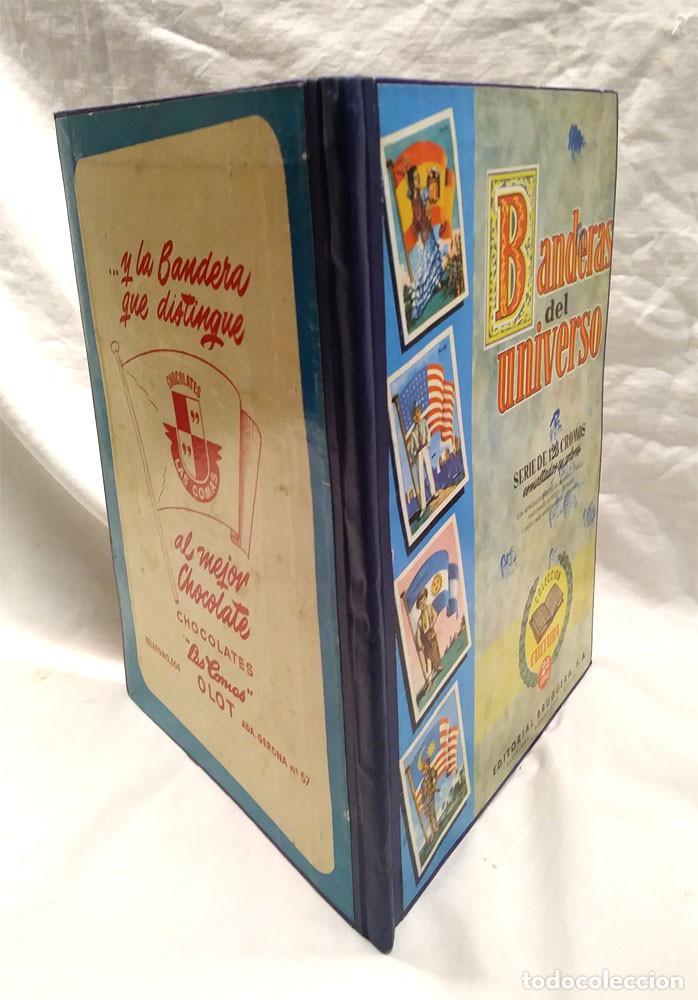 Coleccionismo Álbum: Banderas del Universo Editorial Bruguera año 1956, Encuadernado Tapa dura lomo de Tela - Foto 3 - 238448920