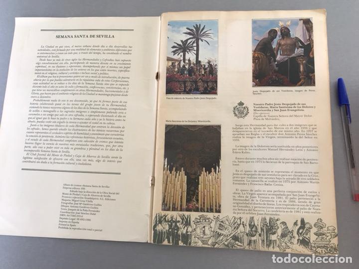 Coleccionismo Álbum: SEMANA SANTA DE SEVILLA. MAGNIFICO ALBUM DE CROMOS COMPLETO DEL CLUB JUVENIL DEL MONTE DE PIEDAD . - Foto 3 - 238689300