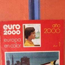 Coleccionismo Álbum: ALBUM DE CROMOS COMPLETOS. EURO 2000. EUROPA EN COLOR. EDITORIAL VICENS-VIVES.. Lote 239391260