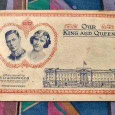 Coleccionismo Álbum: INGLATERRA OUR KING AND QUEEN. BONITO ALBUM. 50 CROMOS. COMPLETO. 1937. MUY BONITO... Lote 240174400