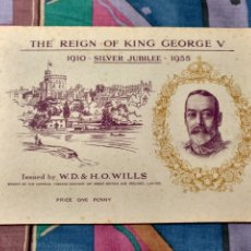 Coleccionismo Álbum: INGLATERRA REIGN OF KING GEORGE V 1910 - 1935 COMPLETO. 50 CROMOS. MUY BONITO.SIMILAR AL DE LA FOTO.. Lote 240174470
