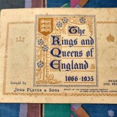 Coleccionismo Álbum: THE KINGS & QUEENS OF ENGLAND 1066-1935 REYES Y REINAS DE INGLATERRA (1935) 50 CROMOS COMPLETO. Lote 240174560