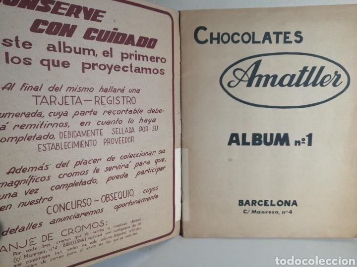 Coleccionismo Álbum: ALBUM NUMERO 1 CHOCOLATES AMATLLER COMPLETO - Foto 2 - 240275290