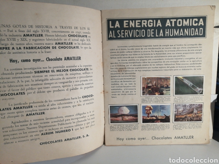 Coleccionismo Álbum: ALBUM NUMERO 1 CHOCOLATES AMATLLER COMPLETO - Foto 3 - 240275290