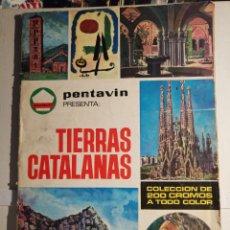 Coleccionismo Álbum: ALBUM DE CROMOS COMPLETO TIERRAS CATALANAS PENTAVIN. Lote 240417380