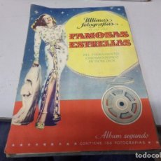 Coleccionismo Álbum: ALBUM COMPLETO ULTIMAS FOTOGRAFIAS DE LAS MAS FAMOSAS ESTRELLAS. Lote 242290270