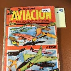 Coleccionismo Álbum: HISTORIA DE LA AVIACIÓN DE 1900 A 1950 EDITA CLIPER, ALBUM DE CROMOS COMPLETO. VEAN FOTOS. Lote 242403105