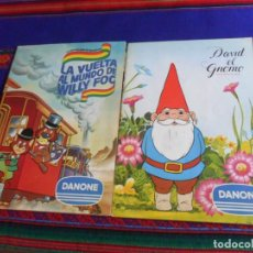 Coleccionismo Álbum: DAVID EL GNOMO COMPLETO 64 CROMOS. DANONE 1985. REGALO LA VUELTA AL MUNDO DE WILLY FOG INCOMPLETO.. Lote 243122515