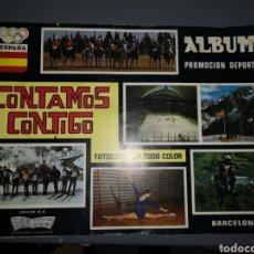 Coleccionismo Álbum: T1A6. ALBUM DE CROMOS COMPLETO. CONTAMOS CONTIGO. Lote 243350100