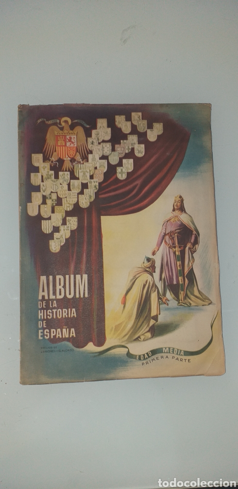 ALBUM COMPLETO HISTORIA ESPAÑA EDAD MEDIA PRIMERA PARTE - BRIONES Y ALONSO (Coleccionismo - Cromos y Álbumes - Álbumes Completos)