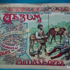 Coleccionismo Álbum: ÁLBUM DE CROMOS COMPLETO ENOLTURAS CARAMELOS DON QUIJOTE DE LA MANCHA DE MATÍAS LÓPEZ AÑO 1905. Lote 243961745
