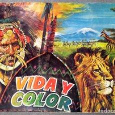 Colecionismo Caderneta: ALBUM 1970 VIDA Y COLOR 3. ANIMALES RAZAS HUMANAS ANATOMIA. 507 CROMOS, COMPLETO. Lote 240500080