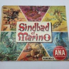 Coleccionismo Álbum: ALBUM SIMBAD EL MARINO, COMPLETO ( DESAYUNOS ANA, CHOCOLATES LLOVERAS ) AÑOS 50. Lote 244655975