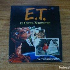 Coleccionismo Álbum: ALBUM CROMOS COMPLETO E.T. EL EXTRA-TERRESTRE ALBUNES ESTE. Lote 244868940