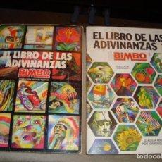 Coleccionismo Álbum: ALBUMES EL LIBRO DE LAS ADIVINANZAS 1 Y 2 DE BIMBO 1973. COMPLETOS. Lote 280268543