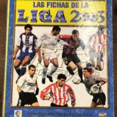 Coleccionismo Álbum: ALBUM LAS FICHAS DE LA LIGA 2003. 620 FICHAS + ALGUNO SUELTO. Lote 245782515
