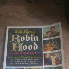 Coleccionismo Álbum: ROBIN HOOD WALT DISNEY 1970 ALBUM COMPLETO, UN LIBRO DE ORO DE ESTAMPAS. Lote 245785610