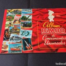 Coleccionismo Álbum: ALBUM BIMBO DE CONOCIMIENTOS UNIVERSALES . COMPLETO.. Lote 245893190