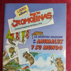 Coleccionismo Álbum: ALBUM DE CROMOS COMPLETO. CROMOTINAS. LA DIVERTIDA COLECCIÓN DE LOS ANIMALES Y SU MUNDO. PLAZA JOVEN. Lote 245902980