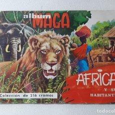 Coleccionismo Álbum: ANTIGUO ALBUM DE CROMOS ALBUM MAGA Nº 2 AFRICA Y SUS HABITANTES EDITORIAL MAGA AÑO 1965 COMPLETO. Lote 246224630