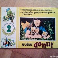 Collectionnisme Album: COMPLETO MI ALBUM DONUT -INFANCIA DE LOS ANIMALES, PARA TU COMPAÑIA Y RECREO- FHER -1973 DONUTS. Lote 246591450