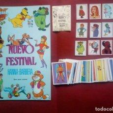 Coleccionismo Álbum: NUEVO FESTIVAL HANNA BARBERA ALBUM VACIO PLANCHA+COLECCIÓN COMPLETA CROMOS SIN PEGAR+ADHESIVOS. Lote 246592930