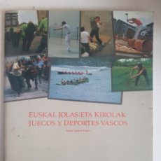 Coleccionismo Álbum: ALBUM EUSKAL JOLAS ETA KIROLAK JUEGOS Y DEPORTES VASCOS CLUB JUVENIL 1989. Lote 251366920