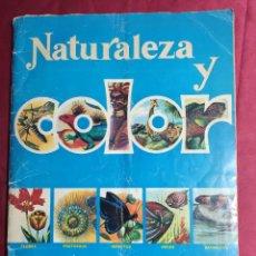 Coleccionismo Álbum: ALBUM DE CROMOS COMPLETO. NATURALEZA Y COLOR. EDITORIAL CAREN. 1979. Lote 278446063