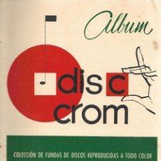 Coleccionismo Álbum: DISC CROM - COMPLETO. Lote 254228475